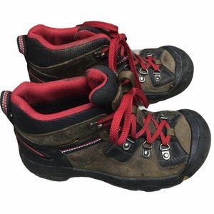 KEEN Youth Brown Waterproof Hiking Boots Size 4